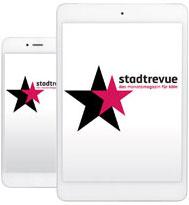 Smartphone und Tablet für die Stadtrevue App
